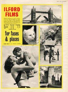 1953 Ilford Films 'Faces & Places' #ilfordfilm #vintagefilm #shootfilm #analguephotography #35mm #mediumformat