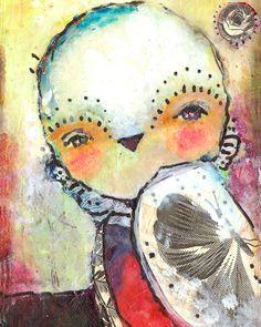 mixed media painting by Juliette Crane. http://juliettecrane.com