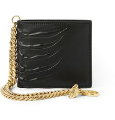 Alexander McQueenEmbossed-Leather Chain Wallet  Clothes, Bitch