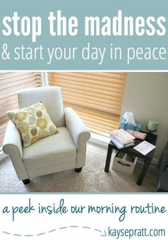 Stop the Madness & Start Your Day In Peace! (A Peek Inside Our Morning Routine) - Kayse Pratt
