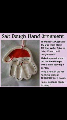 Hand print Santa