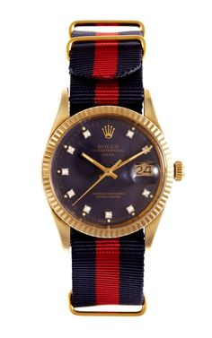 Shop 1982 Rolex 14K Yellow Gold Date With Factory Diamond Dial by CMT Fine Watch and Jewelry Advisors - Moda Operandi