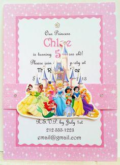 Disney Princess Invitations on Pinterest | Invitation Birthday, Barbie Invitations and Princess ...