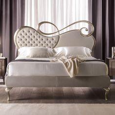 Opulent Designer Italian Button Upholstered Designer Bed at Juliettes Interiors. Luxury Bedroom Design, Bedroom Bed Design, Champagne Bedroom, Bedroom Furniture, Bedroom Decor, Types Of Furniture, Luxurious Bedrooms, Bed Frame, Quartos
