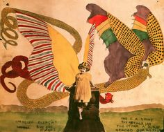 Outsider artist Henry Darger's work is beyond description. Alternately beautiful, horrifying, creepy and perplexing.