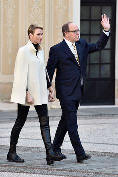 Her Serene Highness, The Princess of Monaco, Princess Charlene Wittstock, with her husband Prince Albert of Monaco (son of Princess Grace & Prince Rainier)