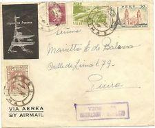 Perú circular cubierta con servicio nocturno cancelación 1957