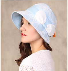 Elegant lace bow sun hat for women spring summer bucket hats UV package 1944681187f5