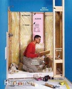 Bathroom Remodel Diy Tile Shower Pan 68 New Ideas Diy Bathroom Remodel, Shower Remodel, Basement Bathroom, Bath Remodel, Bathroom Remodeling, Bathroom Ideas, Outhouse Bathroom, Bathroom Laundry, Bathroom Renos