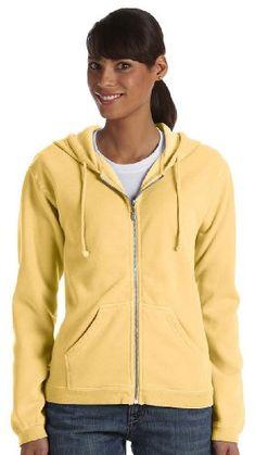 057ffb6794e Garment-Dyed Full-Zip Hood at Amazon Women's Clothing store: