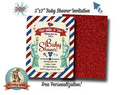 Baby Shower Invitation Baby Shower Invites Red White and Personalized Invitations, Digital Invitations, Baby Shower Invitations, Invites, Printable Party, Red And White, Group, Business, Board