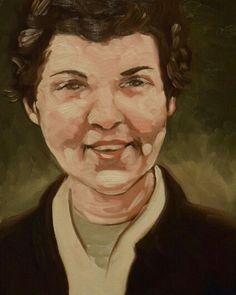 Painting of my Grandma,  Leona.  By Marina Snider