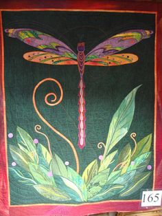 """Dragonfly #quilt, """"Summer Celebration"""" by Jean Wells."""