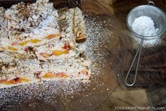 Life's short.  Eat cake.  Or in this case Peach Shortbread Bars. #foodporn #yummy