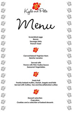 Wedding Brunch Menu Option | One Fine Day | Brunch menu ...