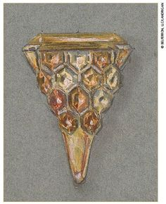 Lot 198 - A COLOURED SAPPHIRE, CITRINE AND GOLD 'HONEYCOMB' RING, BY SUZANNE BELPERRON
