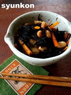 【レンジで1発!副菜・常備菜】ジップロック1つで!ひじきの煮物