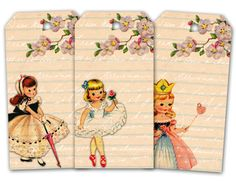 Free Printable Vintage Paper Doll Tags