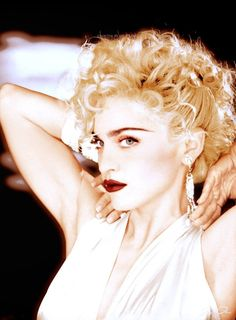 """weboguy: """" Madonna on the set of the Vogue video photographed by Lorraine Day, """" Madonna Vogue, Madonna Photos, Lady Madonna, Nostalgia, Madonna The Immaculate Collection, Divas, Female Singers, Material Girls, Short Hairstyles For Women"""
