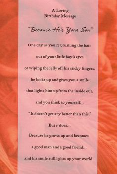 Birthday quotes for son from mom poems my boys Ideas Birthday Message For Mom, Happy Birthday Son, Birthday Messages, Birthday Quotes, 19th Birthday, Special Birthday, Birthday Greetings, Birthday Wishes, Son Quotes From Mom