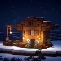 minecraft building ideas Day 1 Happy December everyone! Christmas is on it's way, and I decided to create you guys a Minecraft advent calendar! Minecraft Building Designs, Minecraft Structures, Minecraft Plans, Minecraft Survival, Minecraft Architecture, Minecraft Blueprints, Minecraft Creations, Building Ideas, Amazing Minecraft