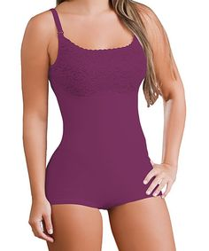 Take a look at this Purple Sofia Thermal Hip-Hugger Bodysuit by Co'CooN on #zulily today!