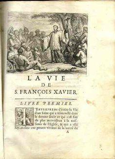 """D. Bouhours. """"La vie de Saint François Xavier"""" (París, 1682)"""