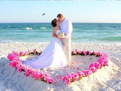 What a great idea for flowers on the beach