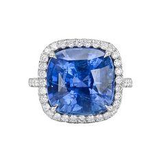 Paolo Costagli Cushion-Cut Sapphire & Diamond Ring
