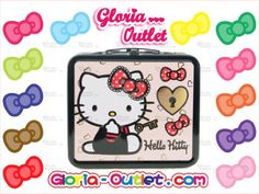 04e6ecf1e4 Hello Kitty Lock and Key Metal Tin Lunch Box Loungefly Sanrio