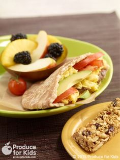 Early riser's pita is a fantastic healthy breakfast for kids.