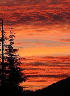 Mountain Sunset by ButterflyJ