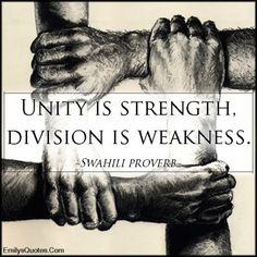 EmilysQuotes.Com - unity, strength, division, weakness, wisdom, understanding, African proverb, Swahili proverb