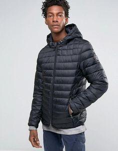 Napapijri   Napapijri Quilted Hooded Jacket Zip Front