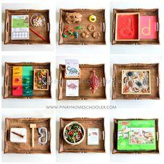 The Pinay Homeschooler: Montessori Inspired Dinosaur Activity Trays for Pr. Ten Frame Activities, Dinosaur Activities, Counting Activities, Kids Learning Activities, Toddler Learning, Preschool Activities, Montessori Trays, Montessori Math, Montessori Toddler