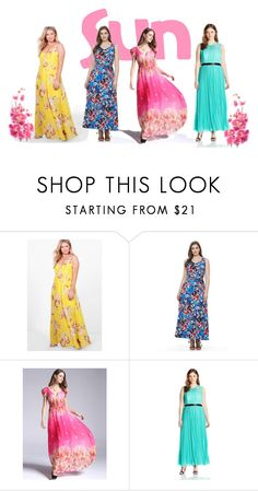 """""""summer plus"""" by alexandra-vdovina on Polyvore featuring мода, Boohoo, Suite 7 и ABS by Allen Schwartz"""