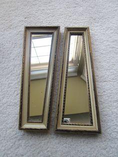 2 Decorative Mirrors E.A. RIBA Co. VINTAGE RETRO Geometric Shapes