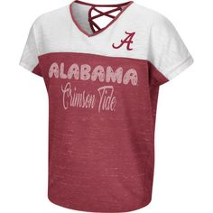 Colosseum Athletics Girls' University of Alabama Palledorous Dolman T-shirt (Red Medium, Size Small) - NCAA Licensed Product, NCAA Youth Apparel at...