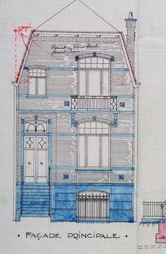 Architectural Drawing Course ixelles - ancien café suisse - boulevard général jacques 48