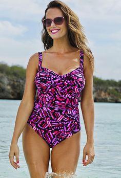 Shore Club Confetti Falling Twist-Front Swimsuit