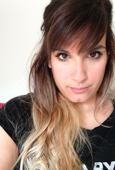Ombre hair. oh man, i may have to go back to the real blonde ends!
