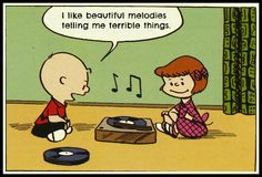 Charlie Brown, Peanuts (vinyl records in comics) Peanuts Gang, Peanuts Comics, Charlie Brown And Snoopy, Snoopy Comics, Vinyl Music, Vinyl Records, Music Is Life, My Music, Rock Music