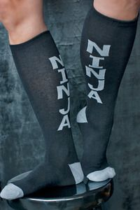 Ninja Knee Highs - Maybe it's not so sneaky to proclaim your ninja status on your socks, but otherwise they won't see you coming.