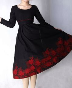Dyt Type 4 Clothes, Saturated Color, Black Linen, High Waisted Skirt, Sewing Patterns, Dressing, Fancy, Night, Elegant