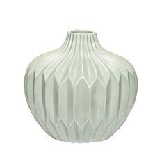 Green ceramic vase. Product number: 250103 - Designed by Hübsch