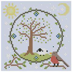 The Floss Box   Spring Mandala Cross Stitch