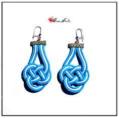 Boucles d'oreilles nœud marin, noeud celtique, bijou marin femme, boucles d'oreilles nautiques, cadeau femme, Blanc : Boucles d'oreille par sunkris