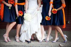 Navy Blue and Orange Wedding!