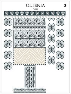 Portretul României Interbelice Folk Embroidery, Embroidery Stitches, Embroidery Patterns, Cross Stitch Patterns, Machine Embroidery, Baby Tattoos, Folk Fashion, Antique Quilts, Cross Stitch Flowers