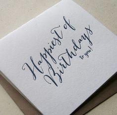 Happiest Birthday Card by Steel Petal Press